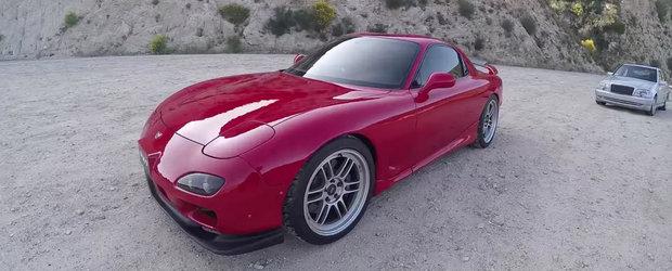 Test drive cu o Mazda RX-7 de peste 400 cp care scuipa flacari. Cine nu ar vrea asa ceva?