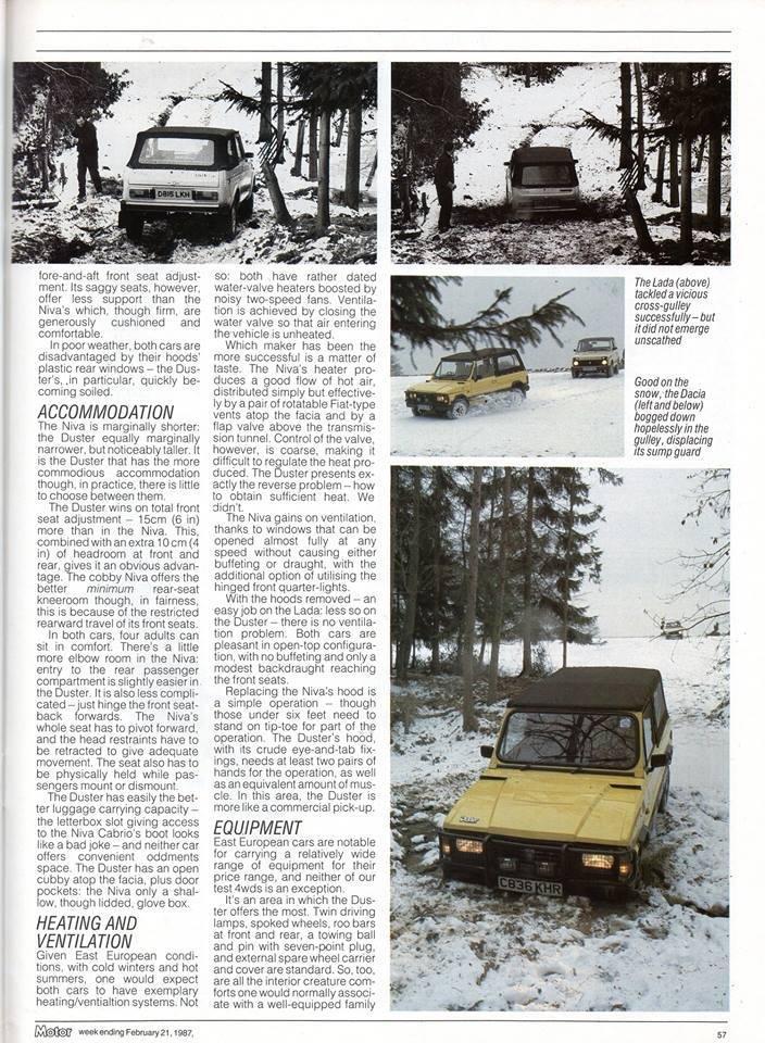 Test Drive Dacia Duster Roadster vs. Lada Niva Cabrio