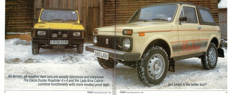Test Drive din 1987: Dacia Duster Roadster vs. Lada Niva Cabrio