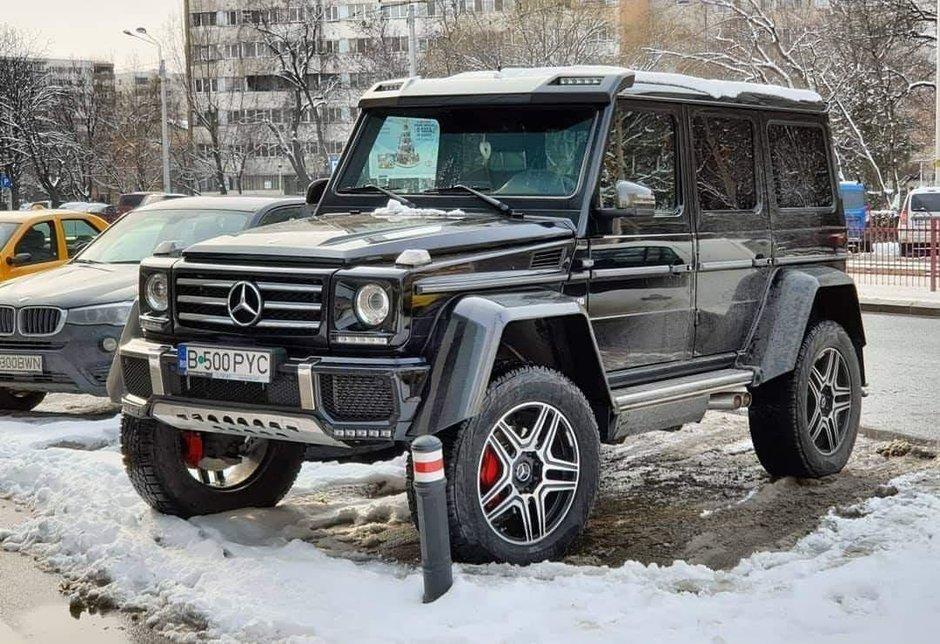 Test Drive in Romania cu Mercedes-Benz G500 4x4², masina cu punti pe portale