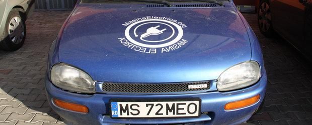 Test Drive verde: Mazda 121 transformata in masina electrica romaneasca