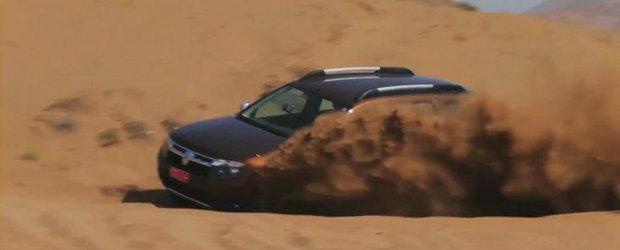 Test fara menajamente: Mark Webber urca la volanul modelului Dacia Duster