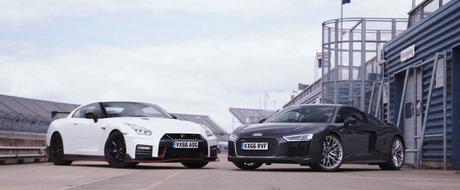 Test marca Tiff Needell: Cum se descurca noul Audi R8 impotriva regelui circuitelor, Nissan GT-R NISMO