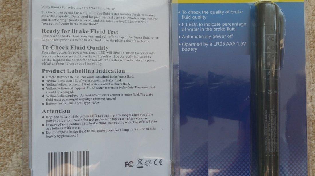 Tester profesional digital pentru verificat calitate lichid de frana