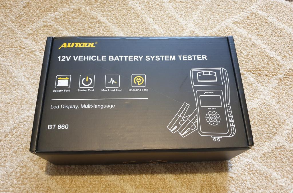 Tester universal baterii acumulatori auto 7-30V AUTOOL BT660 cu imprimanta termica