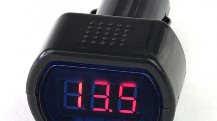 Tester voltaj pentru baterii Automax 12V/24V cu conectare la priza tip bricheta a masinii