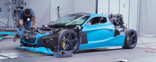Testul pe care n-ai sa-l vezi la Euro NCAP. Asa se izbeste din toate partile un hypercar electric cu 1900 CP
