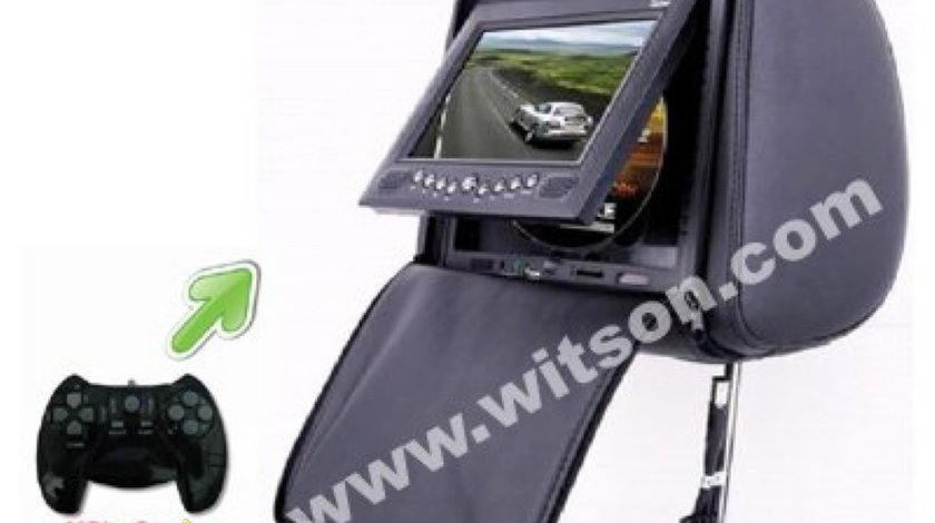 Tetiere WITSON Cu Dvd Husa Usb Sd Divx Jocuri Modulator Fm Joystick Wireless