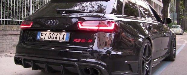 Ti se face parul maciuca. ASA suna un Audi RS6 cu 730 CP sub capota si evacuare directa