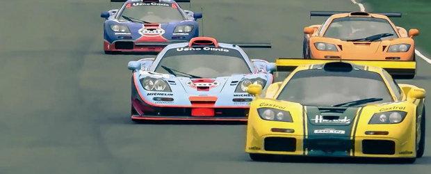 Ti se face pielea de gaina: 16 McLaren-uri F1 GTR in actiune pe acelasi circuit