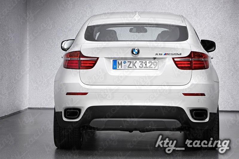 TIPS ESAPAMENT X6 ORNAMENT TOBA BMW E71 2008-2014 V8 DESIGN TIPS SHADOW LINE CHROM BLACK