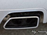 TIPS EVACUARE ESAPAMENT ORNAMENT TOBA CHROM LOOK BMW F10 F12 F13 550I 550D 650I 650D RETROFIT