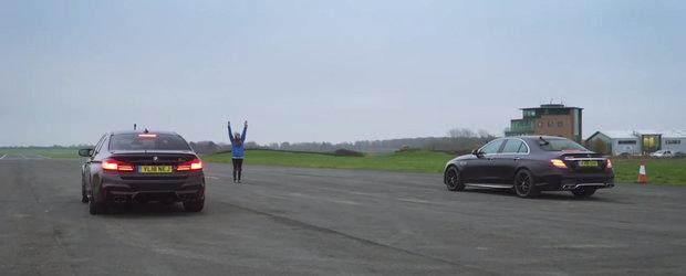 Toata lumea astepta cursa asta. Liniuta intre M5 Competition si E63 AMG S