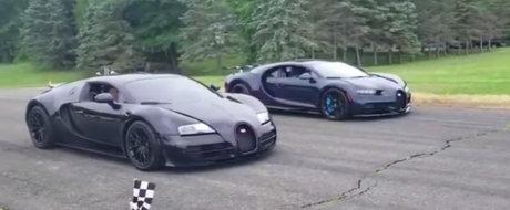 Toata lumea astepta cursa asta. Liniuta intre Bugatti Veyron si Bugatti Chiron