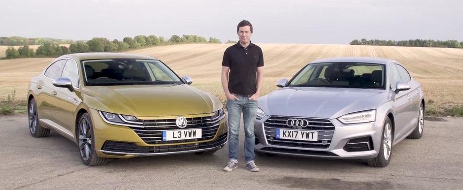 Toata lumea astepta momentul acesta. TEST COMPARATIV intre noul Volkswagen Arteon si Audi A5 Sportback