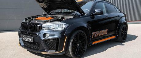 Toata lumea se da la o parte cand vede acest BMW X6 in oglinzi. Masina bavareza are mai multi cai putere decat un Lamborghini