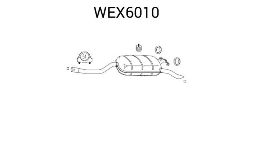 Toba esapament finala MERCEDES E-CLASS (W124) (1993 - 1995) QWP WEX6010 piesa NOUA