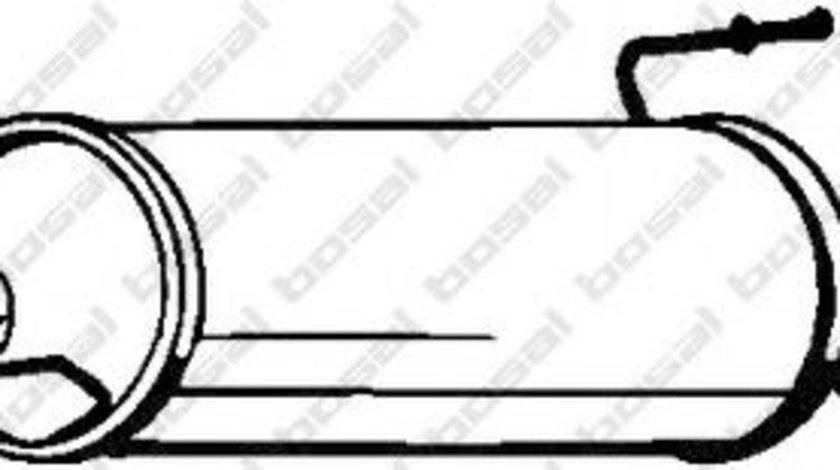 Toba esapament finala OPEL ASTRA G Combi (F35) (1998 - 2009) BOSAL 185-287 piesa NOUA
