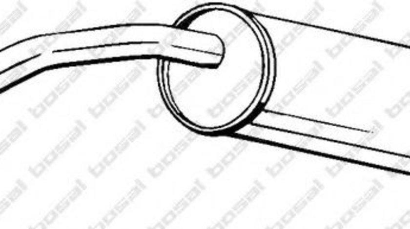 Toba esapament finala VW POLO (9N) (2001 - 2012) BOSAL 227-021 piesa NOUA