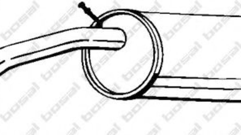 Toba esapament finala VW POLO (9N) (2001 - 2012) BOSAL 233-333 piesa NOUA
