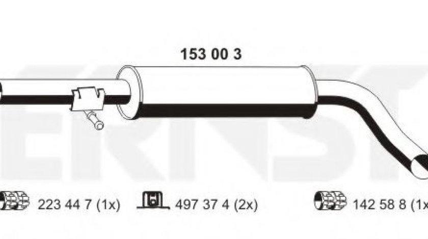 Toba esapament intermediara VW GOLF IV (1J1) (1997 - 2005) ERNST 153003 produs NOU