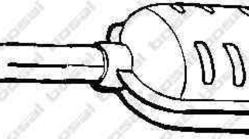 Toba esapamet intermediara OPEL CALIBRA A 85 BOSAL 185-139