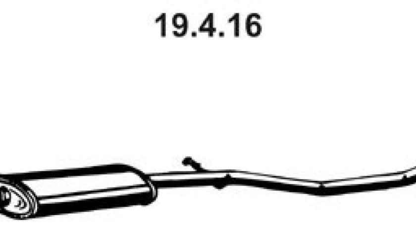 Toba esapamet intermediara PEUGEOT 206 CC 2D Producator EBERSPÄCHER 19.4.16