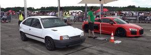 Toti au ras cand au vazut un Opel Kadett la start alaturi de un R8. Pana au aflat ca are 730 CP
