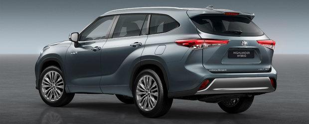 Toyota isi extinde gama de modele din Europa. El este HIGHLANDER, un SUV cu 7 locuri si propulsie hibrida