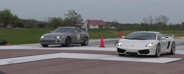Toyota Supra vs Lamborghini Gallardo: Intrecere la peste 300+ km/h