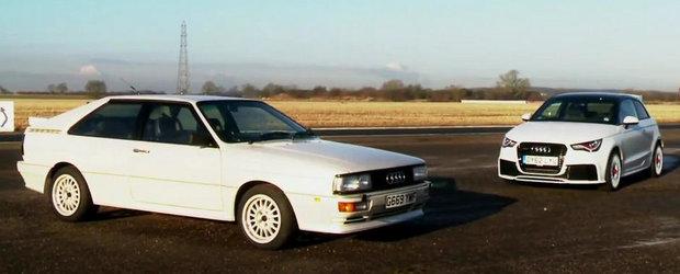 Trecutul intalneste prezentul: Audi Quattro versus Audi A1 Quattro