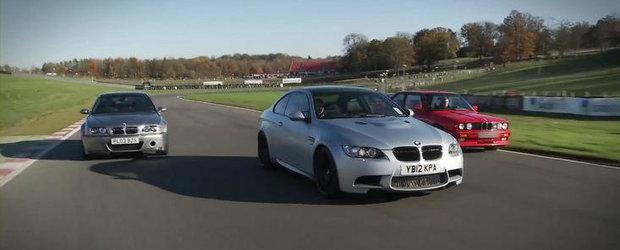 Trei generatii BMW M3, un singur circuit: M3 E30, M3 E46 si M3 E92 isi dau intalnire la Brands Hatch