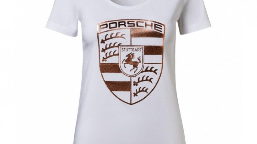 Tricou Dama Oe Porsche Essential Marimea S Alb / Gold WAP82200S0K