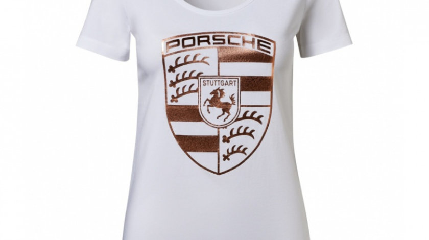 Tricou Dama Oe Porsche Essential Marimea XL Alb / Gold WAP8220XL0K
