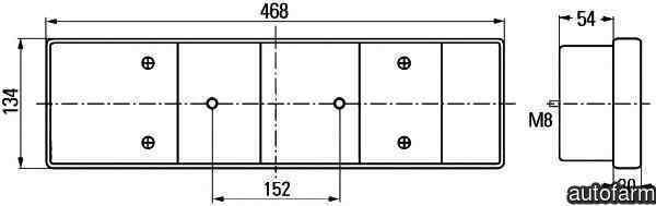 Tripla Lampa spate RENAULT TRUCKS Magnum DEPO 5511950LUE