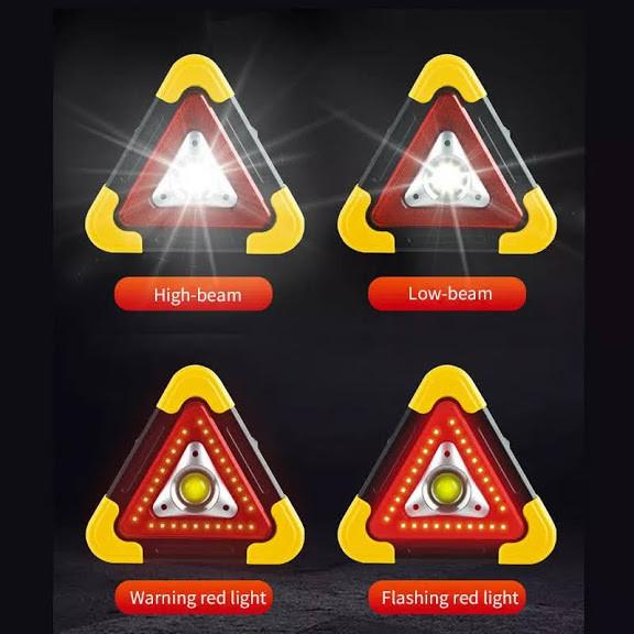 Triunghi reflectorizant Led cu încărcare solară si Usb