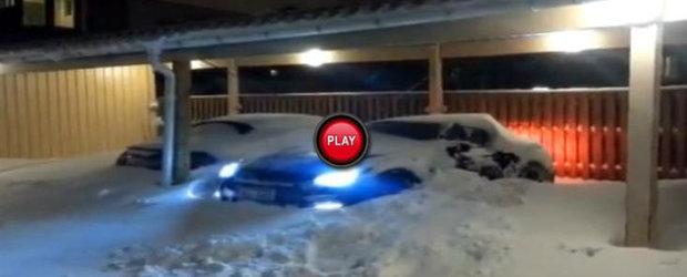 Troienele de zapada nu reprezinta nici o problema pentru Nissan GT-R