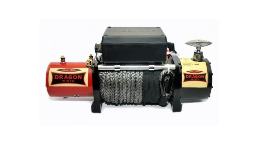 Troliu electric DRAGON WINCH HD 12000lbs(5443 kg) la 12 sau 24V +cadou.Garantie 3 ani