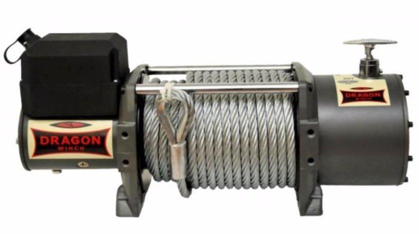 Troliu electric DRAGON WINCH HD 13000lbs(5897 kg) la 12 sau 24V +cadou