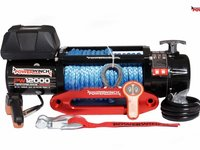 Troliu off-road 12000lbs-5443 kg cablu sintetic 10mm 1950 lei