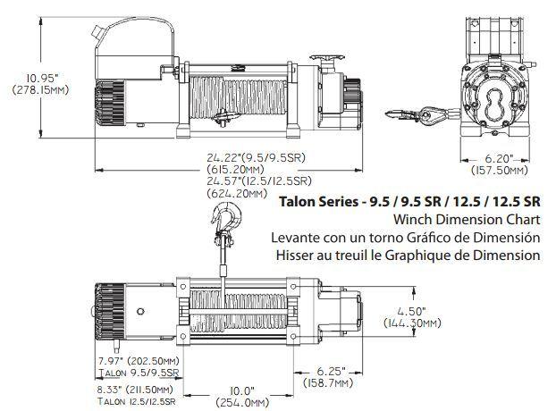Troliu rapid POWERWINCH PANTHER 9,5HS (trage 4309kg) , clasa premium
