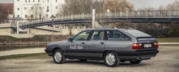 Tu stiai: ca Audi a venit in 1990, la GENEVA, cu un model 100 Avant plug-in hybrid?