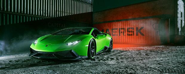 Tunerul Novitec a creat Lamborghini-ul Huracan perfect pentru Hulk. E verde si are 860 de cai putere