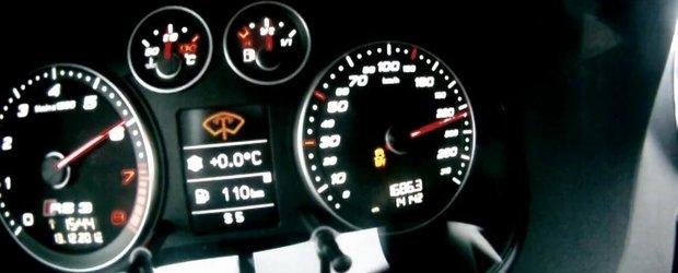 Tuning Audi: Demonstratie de forta la bordul unui RS3 de 470 cai putere