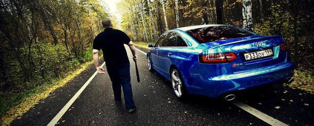 Tuning Audi: Un albastru cromat pentru un RS6 'huliganic'