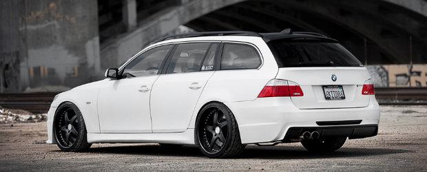 Tuning BMW - un Seria 5 break modificat ca la carte