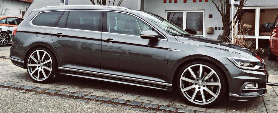 "Tuning bomba pentru VW Passat. Masina germana a primit roti pe 20"" si 350 CP"