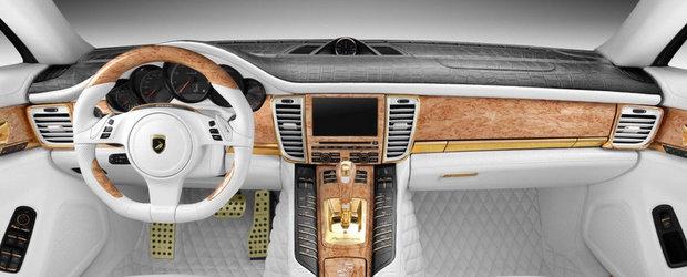 Tuning de Rusia: Aur si piele de crocodil pentru noul Panamera Turbo S