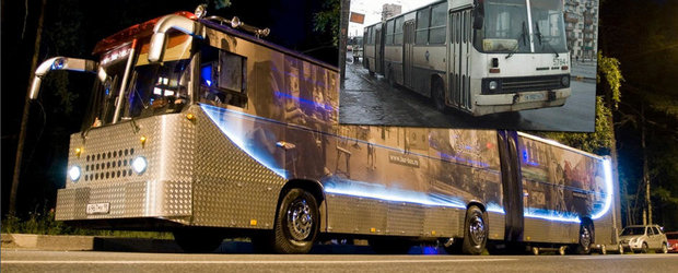 Tuning de Rusia: Autobuzul transformat in... discoteca pe 6 roti