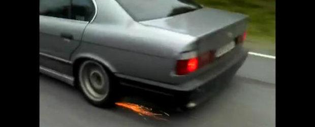 Tuning extrem pentru un BMW M5 E34 - 913 cai putere la roti